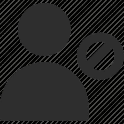 block, person, profile, user icon