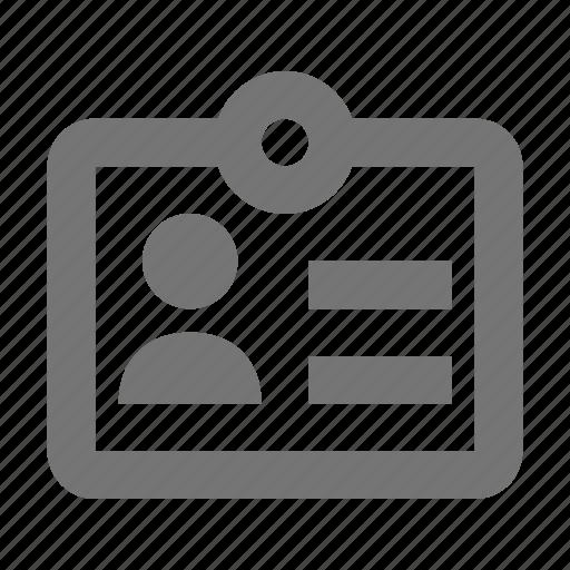 id, id card icon