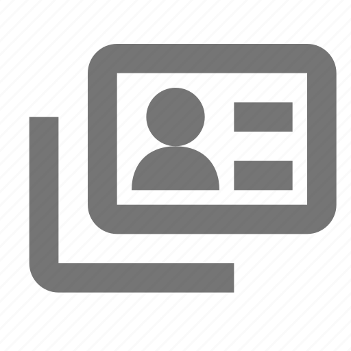 Id, avatar, card, employee, human, people, picture icon - Download on Iconfinder