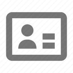 avatar, card, employee, human, id, people, picture, visitor icon