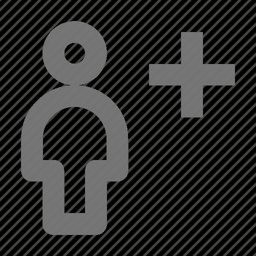 add, new, person, plus, user icon