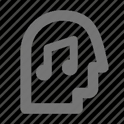 audio, music, person, user icon