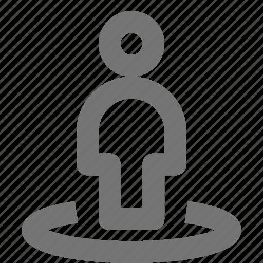 circle, person, user icon