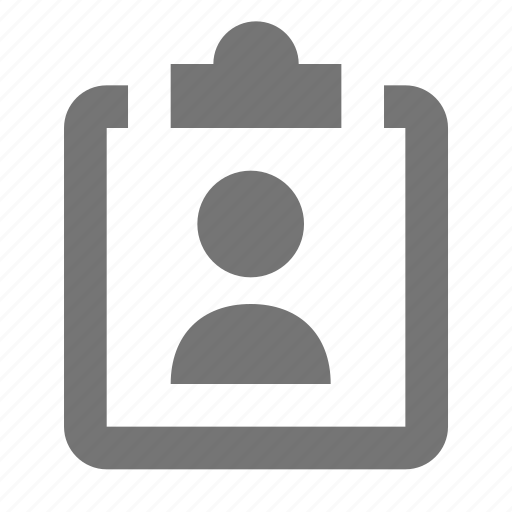 avatar, clipboard, human, image, people, person, user, visitor icon