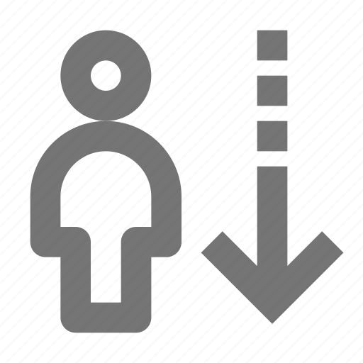 arrow, avatar, down, download, human, people, save, user icon