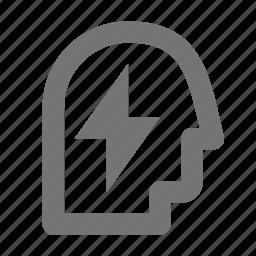 flash, person, user icon