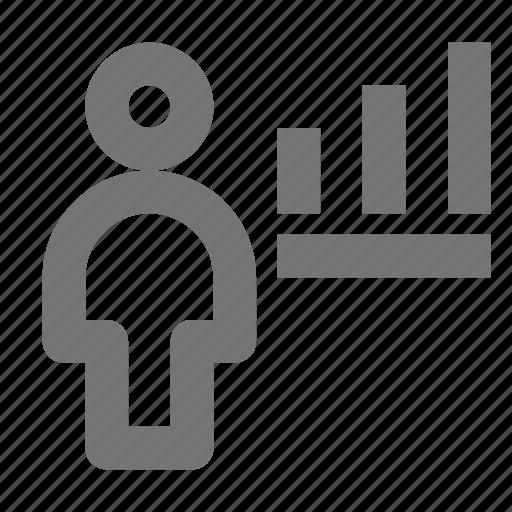 graph, person, user icon