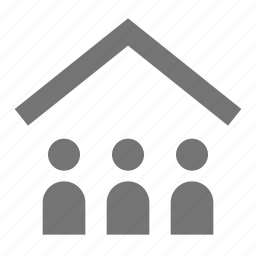 group, home, house, people, user icon