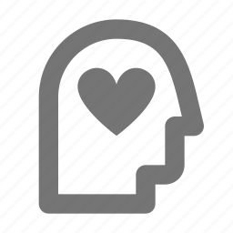heart, like, person, user icon