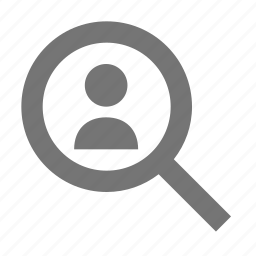 magnify, person, search, user, view icon