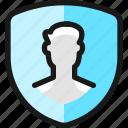 shield, man, single