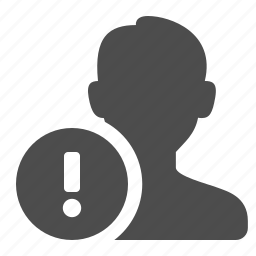 blog, communication, male, man, person, silhouette, user, users, warning, web icon
