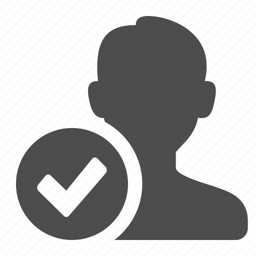 blog, checkmark, communication, male, man, person, silhouette, user, users, web icon