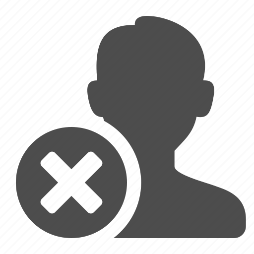 blog, communication, male, man, person, remove, silhouette, user, users, web icon