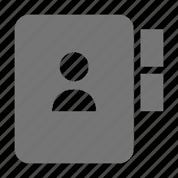 book, contact, user icon