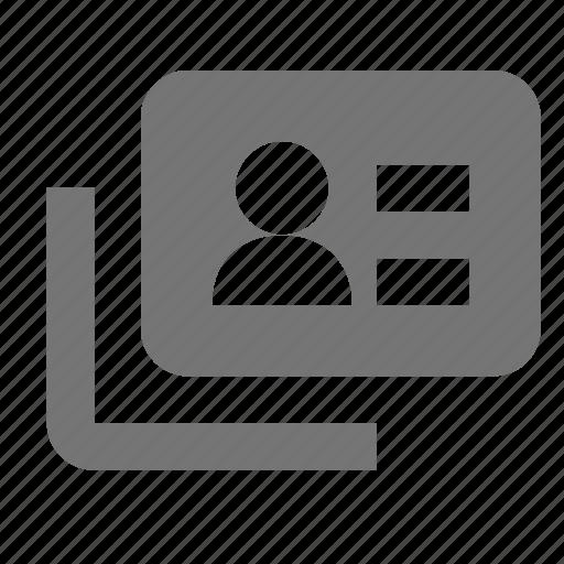 id, profile, user icon