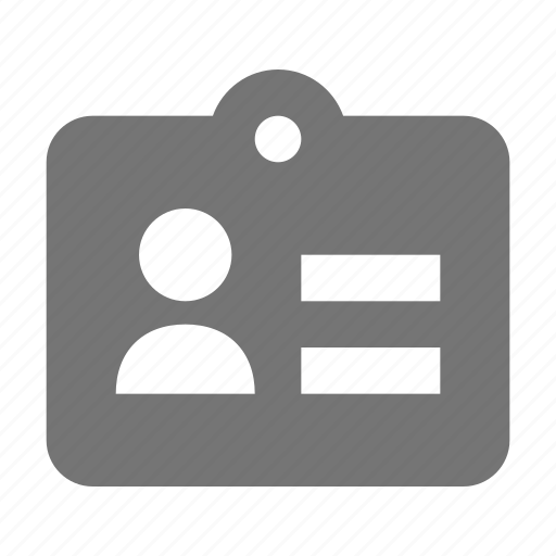 card, id, profile, tag, user icon