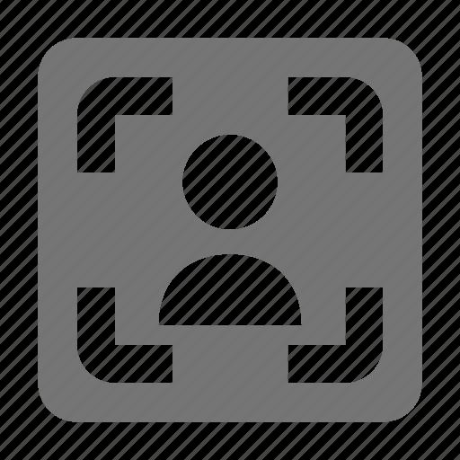 box, frame, user icon