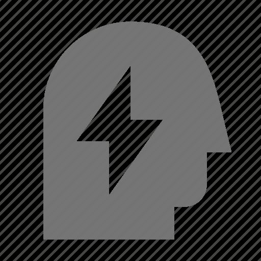 flash, user icon