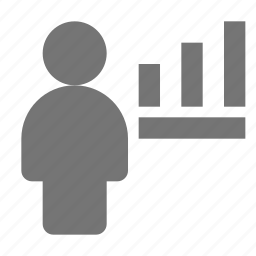 graph, user icon