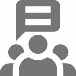 conversation, group, users icon
