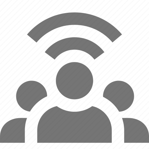 group, signal, users, wifi icon