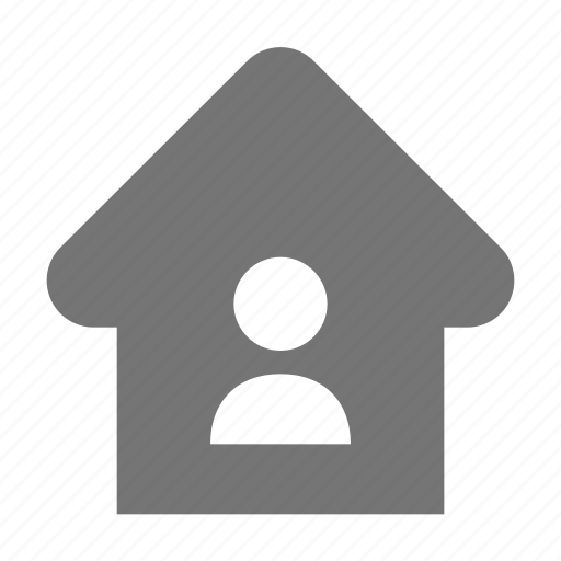 home, house, user icon