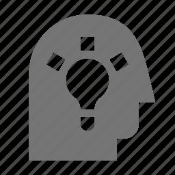 idea, lightbulb, user icon