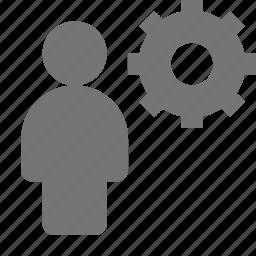 gear, setting, settings, user icon