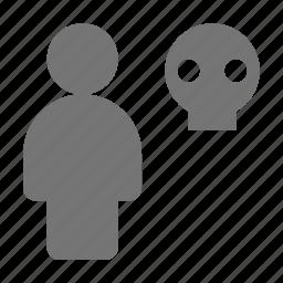 skull, user icon