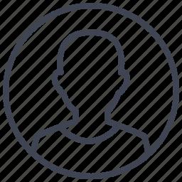 account, avatar, circle, man, person, profile, user icon