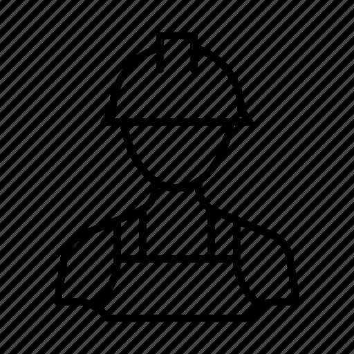 account, avatar, builder, man, person, profile, user icon