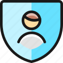 single, man, shield