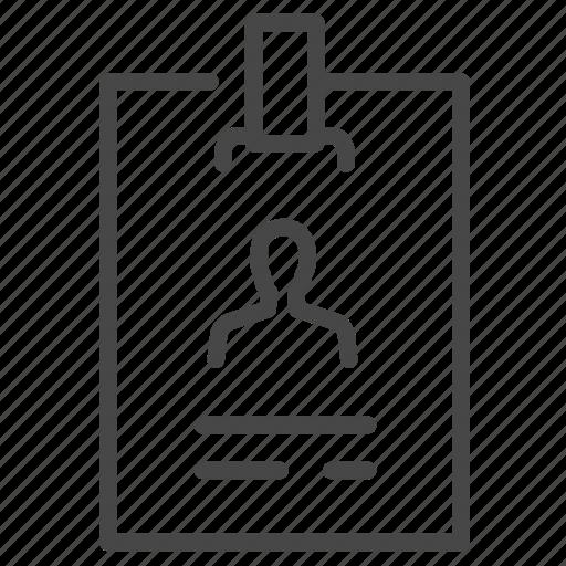account, card, id, profile, staff, user icon