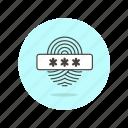 fingerprint, passcode, users icon