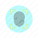 2, fingerprint, scan, users icon