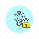 fingerprint, lock, security, users icon