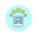 1, image, profile, rating, users icon