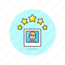 2, image, profile, rating, users icon