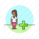 1, add, african, american, female, user, users icon