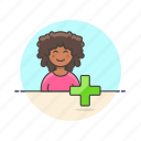 3, add, african, american, female, user, users icon