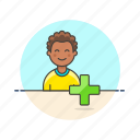 3, add, african, american, male, user, users icon