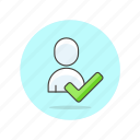 approve, check, user, users icon