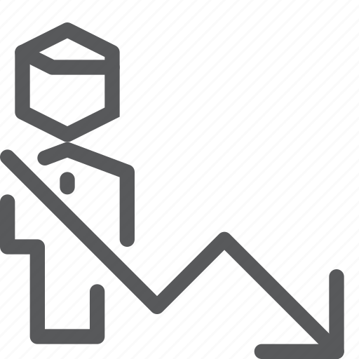 account, action, arrow, avatar, business, decrease, profile, user icon