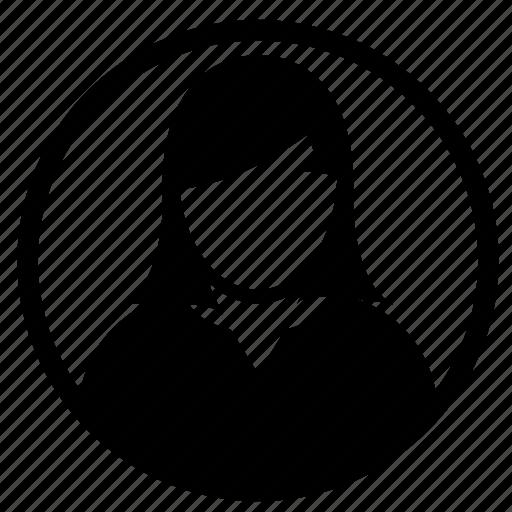 admin, avatar, people, person, profile, user, women icon