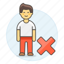 avatar, contact, delete, friend, full, male, remove, user, x