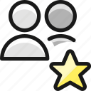 multiple, star, actions