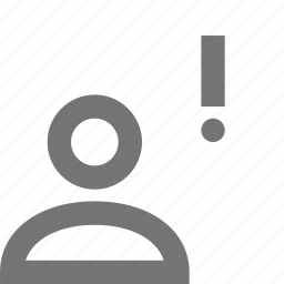 alert, error, exclamation, profile, user icon