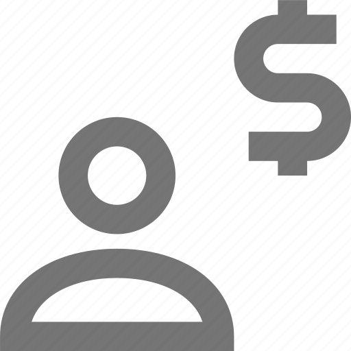 avatar, currency, dollar, human, money, people, profile, user icon