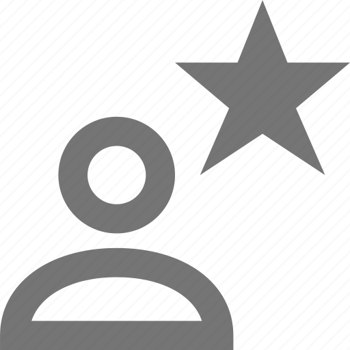 favorite, profile, star, user icon